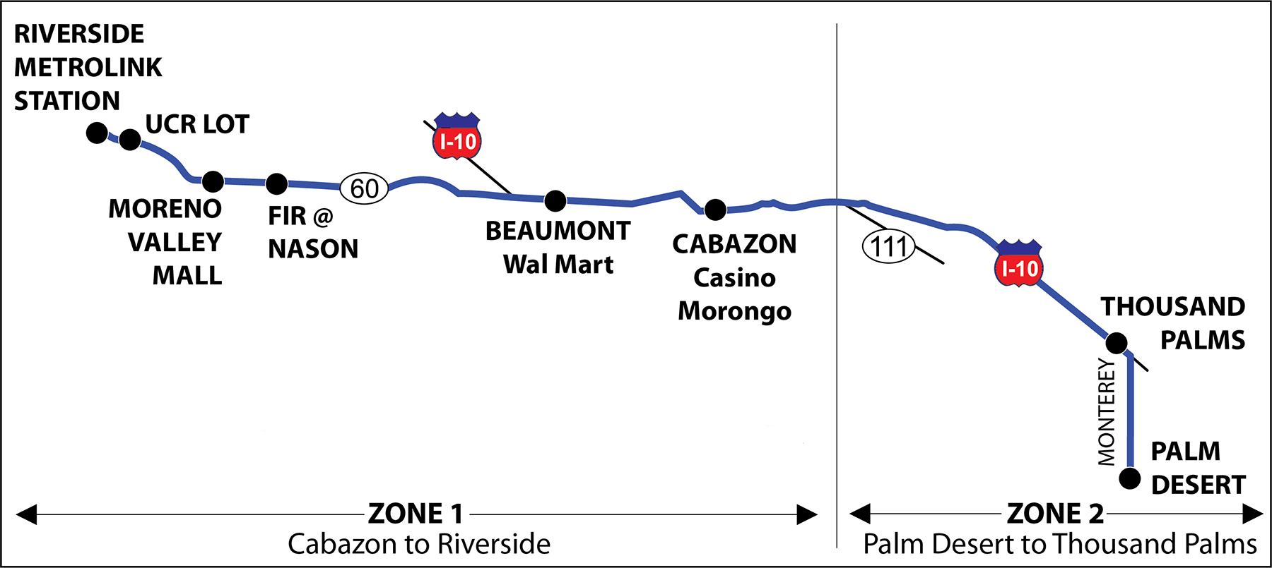 Commuter Link 220 Map