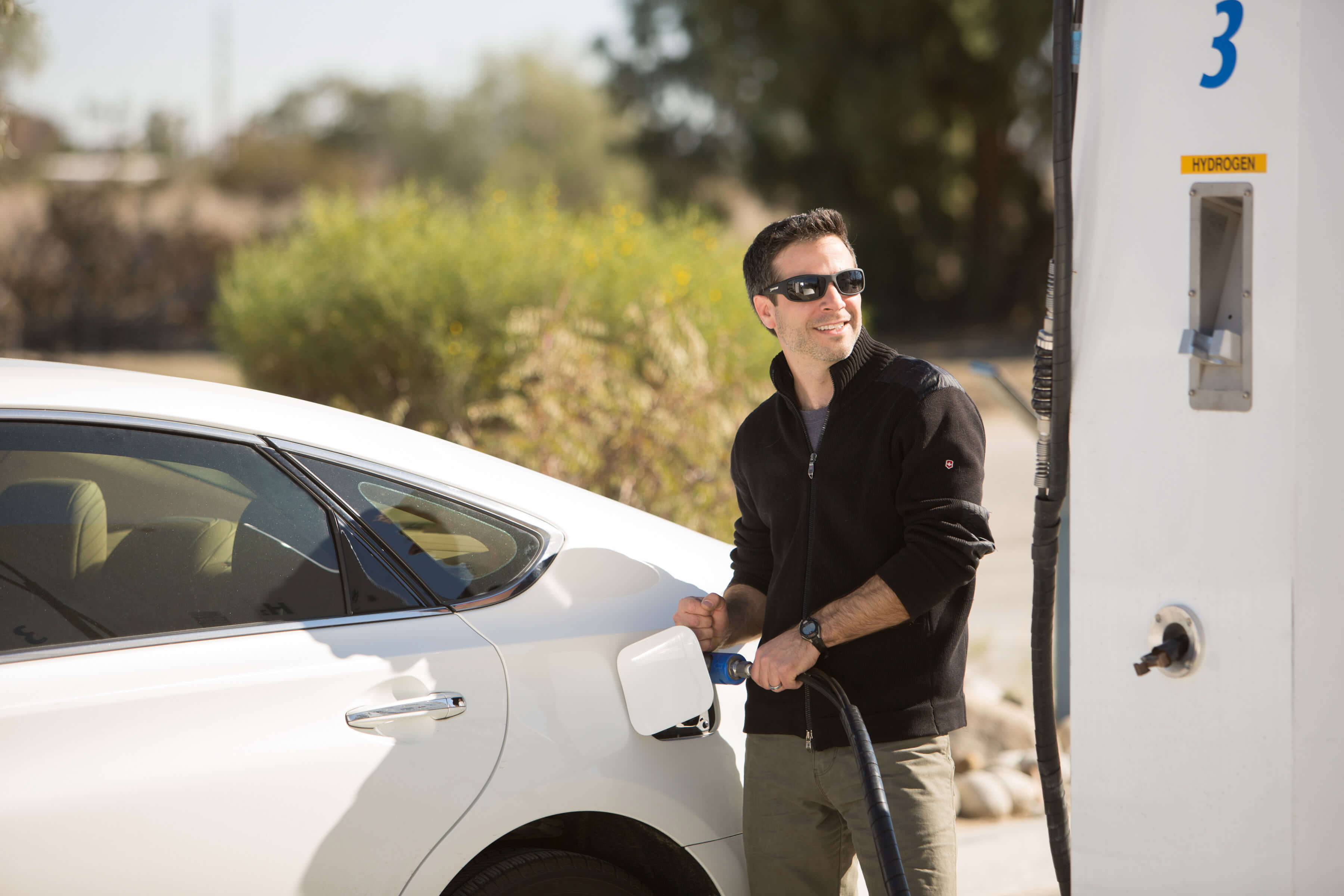 Fueling at Thousand Palms' Clean Fuel Pumps