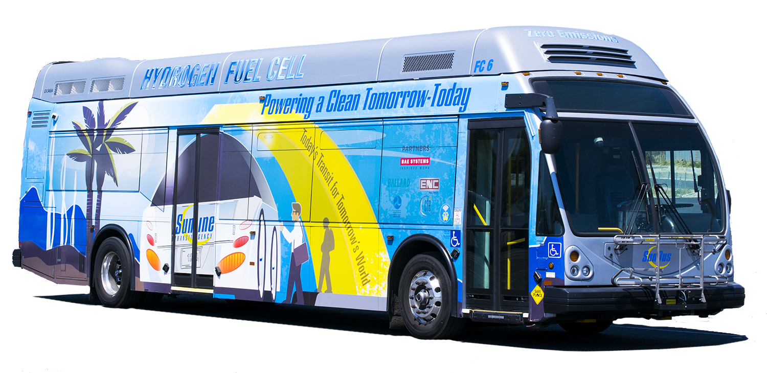 FC6 Hydrogen Fuel Cell Bus with new Wrap