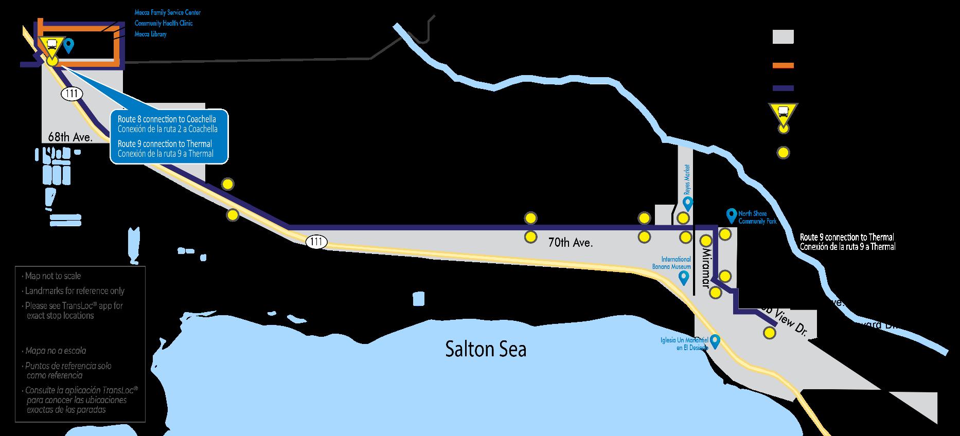 Mecca North Shore Map