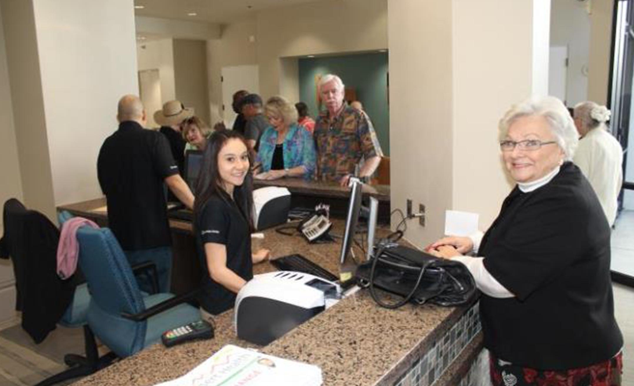 Friendly service at the La Quinta Senior & Wellness Center