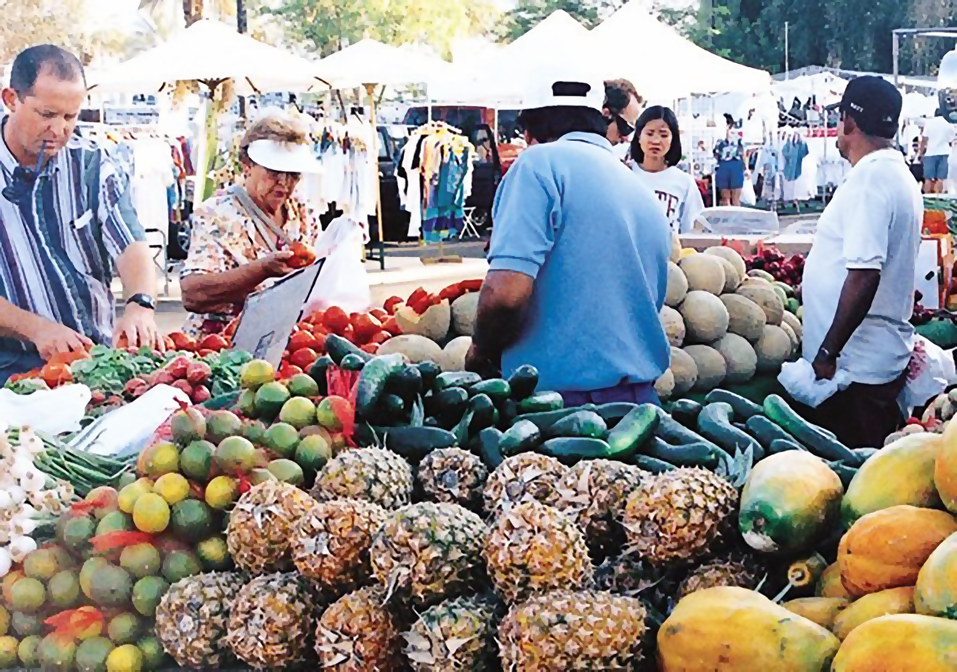Fresh Produce at Maclin's Open Air Market in Indio